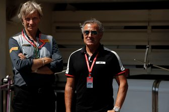 Roberto Boccafogli, Head of F.1 Communications, Pirelli, and Jean Alesi