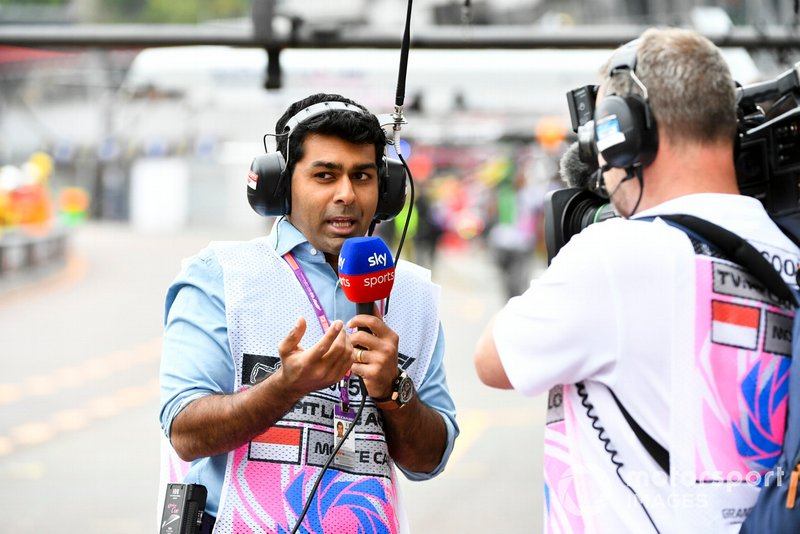 Karun Chandhok, Reporter, Sky Sports F1