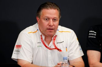 Zak Brown, Executive Director, McLaren, in the team principals Press Conference