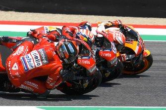 Danilo Petrucci, Ducati Team, Andrea Dovizioso, Ducati Team, Marc Marquez, Repsol Honda Team