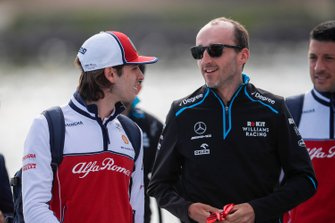 Antonio Giovinazzi, Alfa Romeo Racing and Robert Kubica, Williams Racing