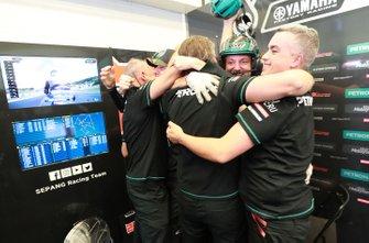 Petronas Yamaha SRT team members celebrate