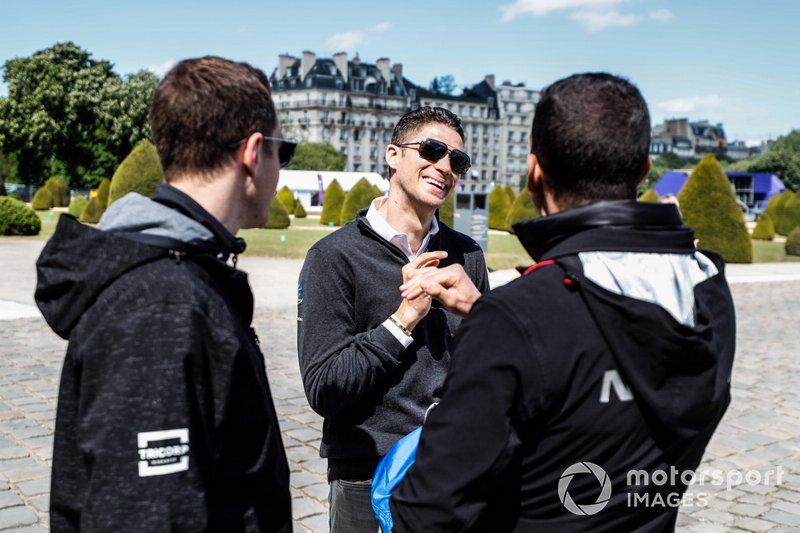 Edoardo Mortara Venturi Formula E, talks to Stoffel Vandoorne, HWA Racelab and Sébastien Buemi, Nissan e.Dams