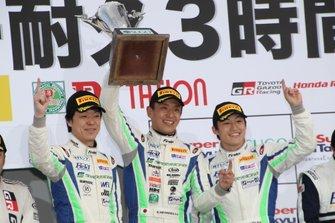 HIRO HAYASHI、平中克幸、国本雄資(#884 林テレンプ SHADE RACING 86)