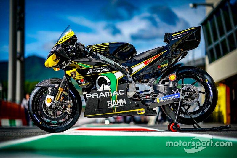 La livrée Lamborghini de Francesco Bagnaia, Pramac Racing