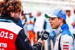 Felipe Massa, Venturi Formula E, talks to the press