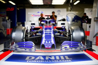 Car of Daniil Kvyat, Toro Rosso STR14 in the garage