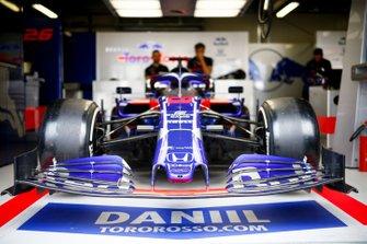 Car of Daniil Kvyat, Toro Rosso STR14 in the garage