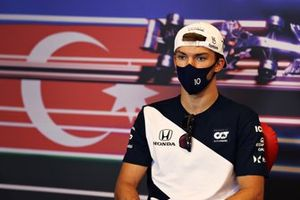 Pierre Gasly, AlphaTauri at press conference