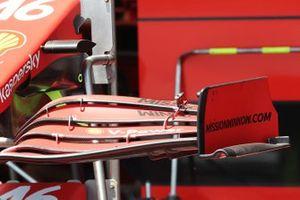 Detalle del endplate Ferrari SF21