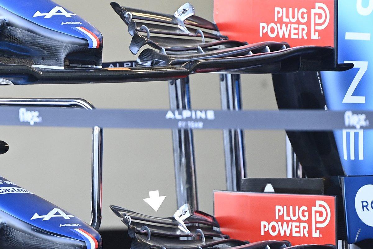 Alpine A521: Frontflügel