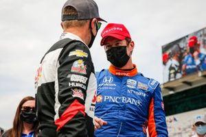 Scott Dixon, Chip Ganassi Racing Honda remporte la récompense NTT Data P1 pour la pole position, Ed Carpenter, Ed Carpenter Racing Chevrolet