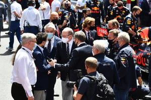 Prince Albert II of Monaco and other guests and dignitaries on the grid. VIP guests on the grid, including Michel Boeri, President of the ACM, Christian Horner, Team Principal, Red Bull Racing and Helmut Marko, Consultant, Red Bull Racing