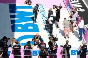 Valtteri Bottas, Mercedes, is interviewed after Qualifying