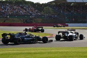 Charles Leclerc, Ferrari SF21, Daniel Ricciardo, McLaren MCL35M, Yuki Tsunoda, AlphaTauri AT02, and Valtteri Bottas, Mercedes W12