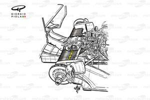 Williams FW16 rear suspension