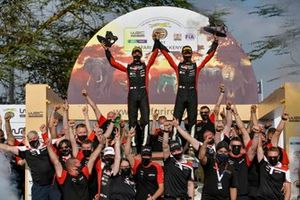 Sébastien Ogier, Julien Ingrassia, Toyota Gazoo Racing WRT Toyota Yaris WRC with the team