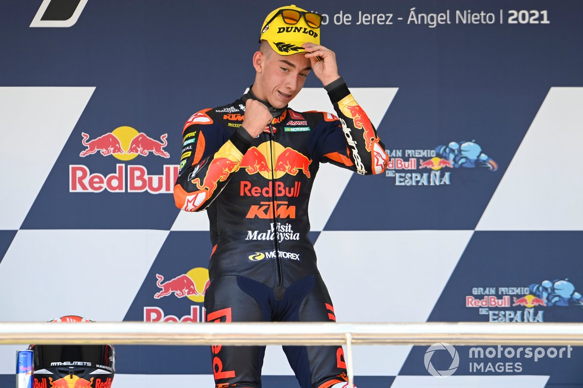 Ganador de la carrera, Pedro Acosta, Red Bull KTM Ajo