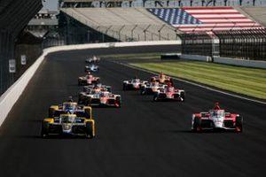 Colton Herta, Andretti Autosport Honda and Simona De Silvestro, Paretta Autosport Chevrolet
