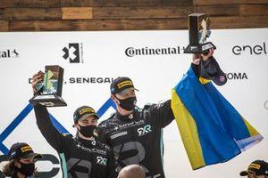 Molly Taylor, Johan Kristoffersson, Rosberg X Racing con il trofeo