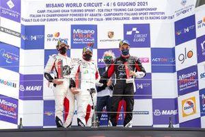Podio: Gianmarco Quaresmini, Tsunami RT, Simone Iaquinta, Dinamic Motorsport e Alessandro Giardelli, Dinamic Motorsport