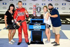 Ryan Preece, Team DGR, Ford F-150 Hunt Brothers Pizza, celebrates in Victory lane
