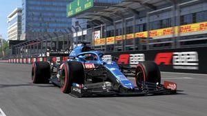 WATCH - F1 2021 Baku hot lap, raw gameplay