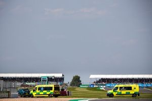 Aston Martin DBX Medical Car and Ambulances after the crash between Lewis Hamilton, Mercedes W12 and Max Verstappen, Red Bull Racing RB16B