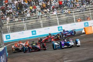 Jake Dennis, BMW I Andretti Motorsport, BMW iFE.21, Oliver Rowland, Nissan e.Dams, Nissan IMO2, Jean-Eric Vergne, DS Techeetah, DS E-Tense FE21