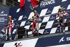Sergio Garcia, Aspar Team Moto3, Filip Salac, Rivacold Snipers Team, Riccardo Rossi, BOE OwlRide podium