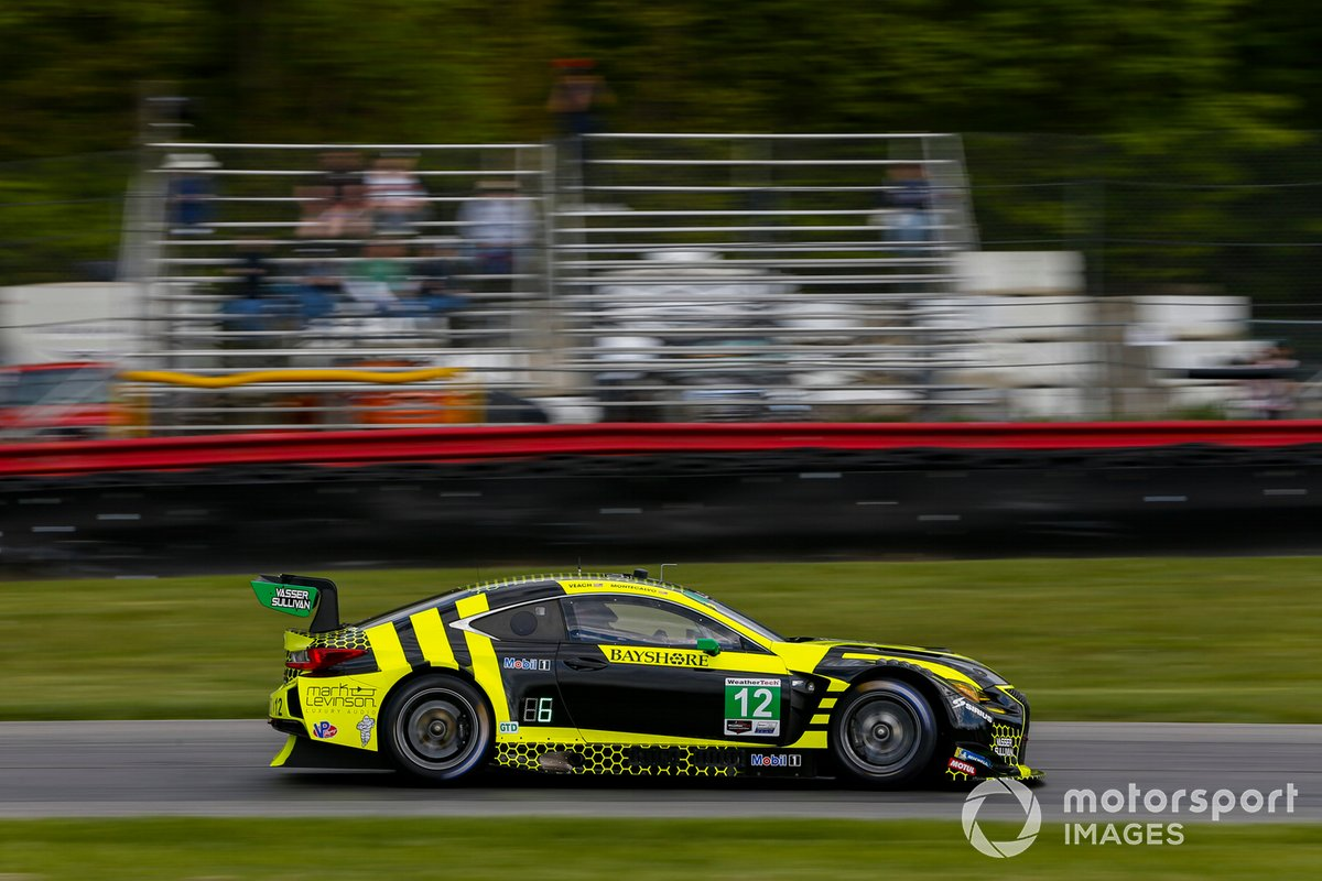 #12: VasserSullivan Lexus RC F GT3, GTD: Frankie Montecalvo, Zach Veach