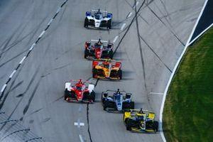 Colton Herta, Andretti Autosport Honda, Ed Carpenter, Ed Carpenter Racing Chevrolet, Marcus Ericsson, Chip Ganassi Racing Honda