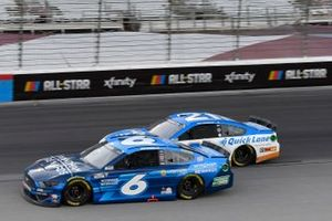 Ryan Newman, Roush Fenway Racing, Ford Mustang Wyndham Rewards, Matt DiBenedetto, Wood Brothers Racing, Ford Mustang Quick Lane Tire & Auto Center