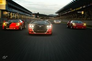 Flitsende Lamborghini's op de Fuji Speedway