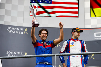 Podium: Giacomo Ricci, Trident Team Manager collects the trophy.