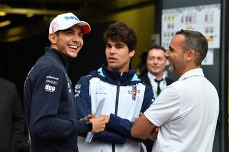 Esteban Ocon, Racing Point Force India F1 Team and Lance Stroll, Williams Racing