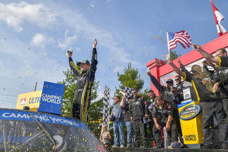Justin Haley, GMS Racing, Chevrolet Silverado Fraternal Order Of Eagles, winner