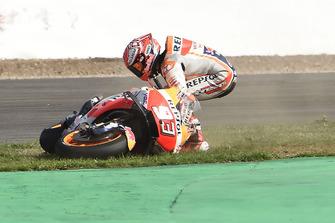 Marc Marquez, Repsol Honda Team crash