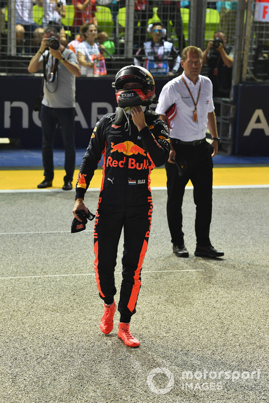 Max Verstappen, Red Bull Racing celebrates in fpe