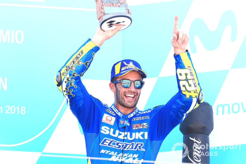 Podio: tercero, Andrea Iannone, Team Suzuki MotoGP