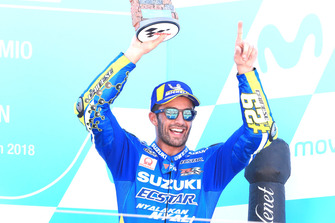 Podium: nummer drie Andrea Iannone, Team Suzuki MotoGP