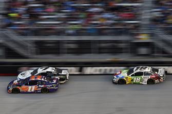 Denny Hamlin, Joe Gibbs Racing, Toyota Camry FedEx Freight and Kyle Busch, Joe Gibbs Racing, Toyota Camry M&M's White Chocolate