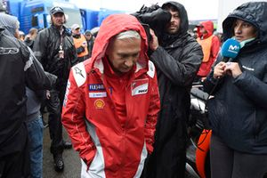 Davide Tardozzi, Team manager Ducati Team, leaving Safety commission meeting
