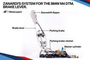 El sistema Zanardi para el BMW M4 DTM, palanca de freno