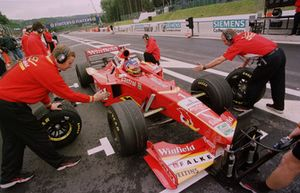 Jacques Villeneuve, Williams, prova un pit stop