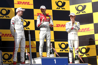Podium: Race winner René Rast, Audi Sport Team Rosberg, second place Paul Di Resta, Mercedes-AMG Team HWA, third place Marco Wittmann, BMW Team RMG