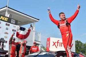 Justin Allgaier, JR Motorsports, Chevrolet Camaro BRANDT Professional Agriculture celebrates his win
