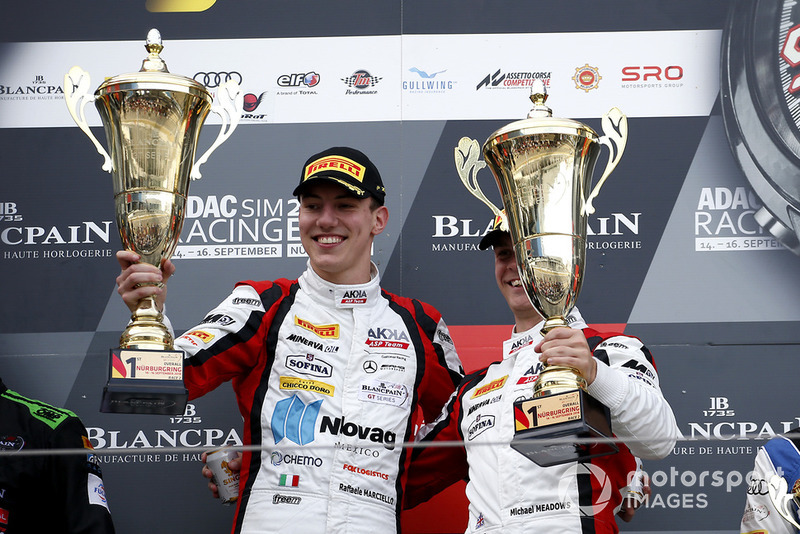 Podio: i vincitori #88 Akka ASP Team Mercedes-AMG GT3: Raffaele Marciello, Michael Meadows