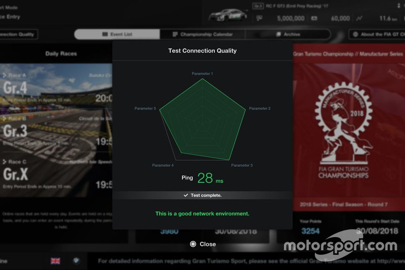 Additional feature in GT Sport patch 1.25