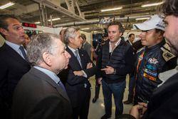Jean Todt, FIA Präsident, Alejandro Agag, CEO Formula E und Salvador Duran, Team Aguri